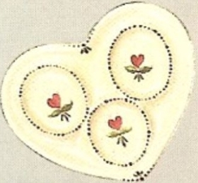 boothe 974 country heart triple spoon rest