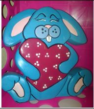 bunny with big heart CC