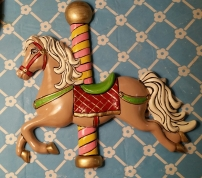 Carousel Horse Wall Plaque head down CC