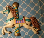 Carousel Horse Wall Plaque head up CC