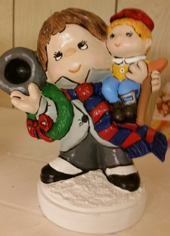 Christmas Carol Bob Cratchet & Tiny Tim CC