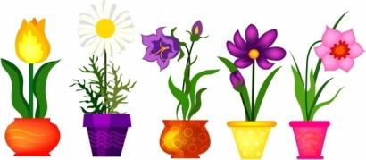 clipart flower pot border