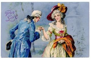 clipart victorian valentine