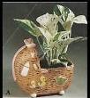 Duncan 0036c wicker cradle planter