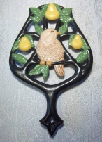 Duncan 0230 partridge in a pear tree trivet