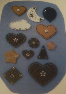Duncan 0933 hearts & stars appliques