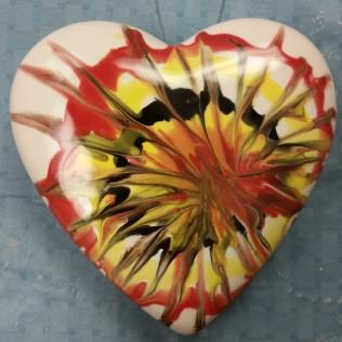 heart box glaze raking Carol glazed