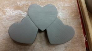 Kelly 731 three-heart plaque