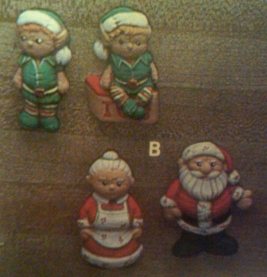 Kimple 0932 Santa & Elf magnets