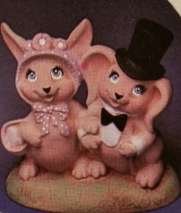 kimple 582 Bunny Couple with Top hat