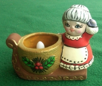 Lefauve 4c-48 Mrs Santa Sleigh tealight holder