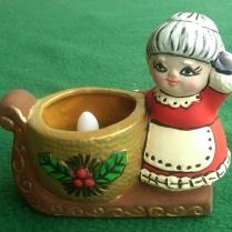 Lefauve 4c-48 Mrs Santa Sleigh tealight holder