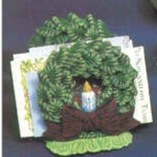 Nowell 0752 wreath napkin holder