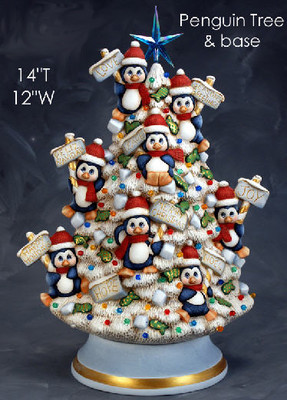 penguin tree red & white
