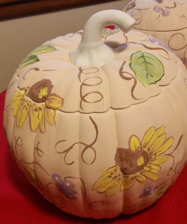 Pumpkin Seminar greenware design Carol
