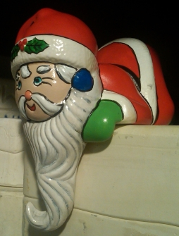 Santa with Beard Stocking Holder on Molds (CC)