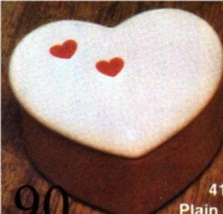 Scioto 0417 small plain heart box