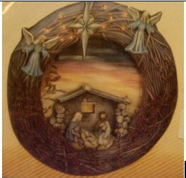 Scioto 1375 Country Wreath Nativity