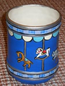 TCU 0271 Carousel Jar in Blue