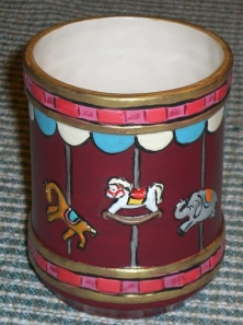 TCU 0271 Carousel Jar in Burgundy
