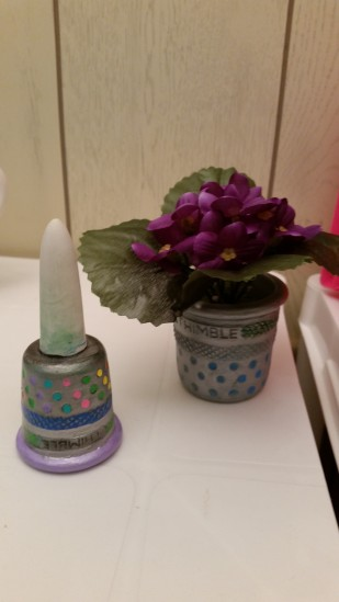 thimble planter with plant & plant tender