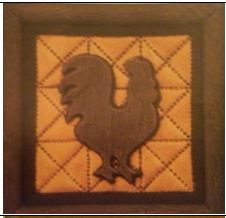 DONA 0322 PUNCHED METAL ROOSTER PLAQUE