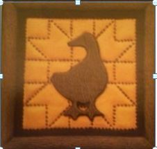 DONA 0323 PUNCHED METAL DUCK PLAQUE