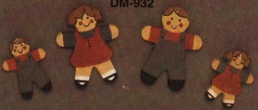 Duncan 0932 bears & gingerbread appliques