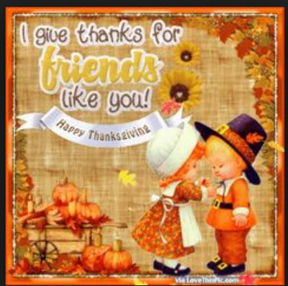 I give thanks for friends like you
