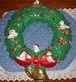 Scioto 0300 holly birds wreath
