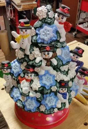 snowman tree for Linda CC