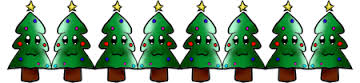 clipart christmas tree border2