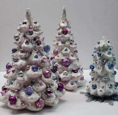 Glitter trees from FB