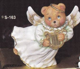 provincial studio 163 bear angel with harp