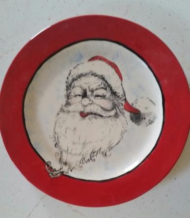 Santa Plate Silkscreen CC