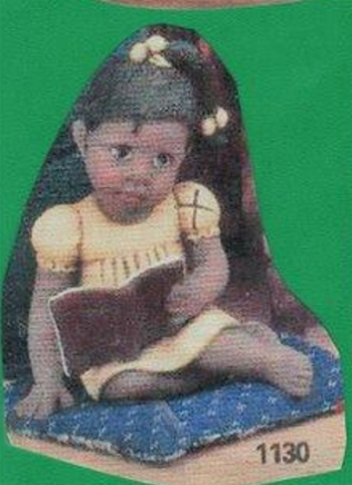 Clay Magic 1130 African American girl with book