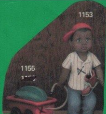 Clay Magic 1153 & 1155 African American boy with wagon