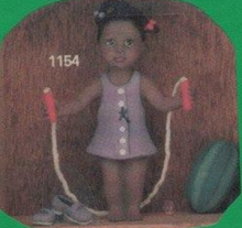 Clay Magic 1154 African American girl with junp rope