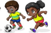 clipart african american kids activities