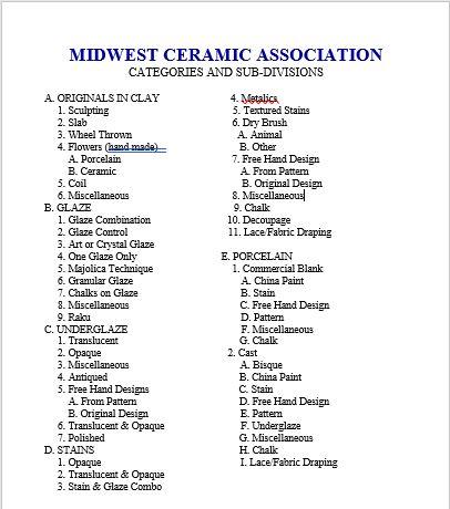 categories 1