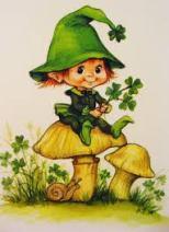 Irish girl on mushroom