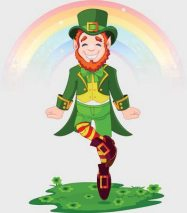 Irish leprechaun dancer