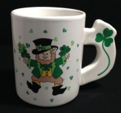 leprechaun painted coffee mug