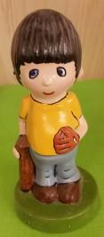 0602 Baseball Boy with Bat & Glove CC