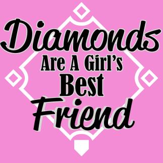 baseball tee -- Diamonds are a girls best friend