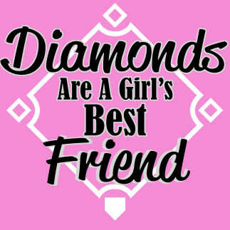 baseball tee -- Diamonds are a girls best friend