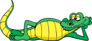 clipart alligator relaxing