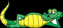 clipart alligator relaxing