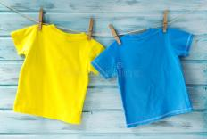 clipart tee shirts on clothesline