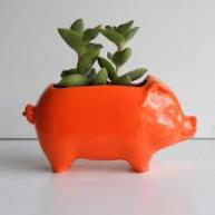 Duncan 0040 piggy bank planter